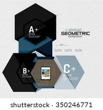 abstract info banner with... | Shutterstock .eps vector #350246771