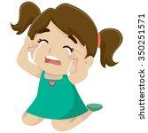 vector illustration of a little ... | Shutterstock .eps vector #350251571