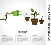 energy saving trees growth  | Shutterstock .eps vector #350257079