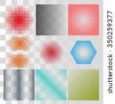halftone background vector set. ... | Shutterstock .eps vector #350259377
