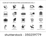 business icons and symbols of...