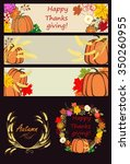 autumnal banners and design... | Shutterstock . vector #350260955