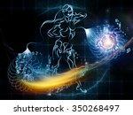 human tangents series.... | Shutterstock . vector #350268497