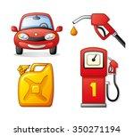 red car  gasoline pump nozzle...