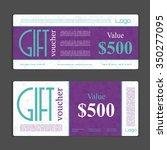 gift voucher template. can be... | Shutterstock .eps vector #350277095