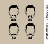 hipster guy illustration theme... | Shutterstock .eps vector #350278469