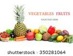 fresh vegetables fruits... | Shutterstock . vector #350281064
