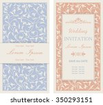 set of wedding invitation cards ... | Shutterstock .eps vector #350293151