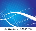 abstract wave line background... | Shutterstock .eps vector #35030260