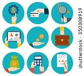 financial examiner icon.... | Shutterstock . vector #350308919