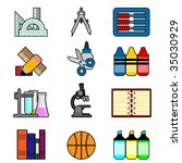 school and education icon set 2 | Shutterstock .eps vector #35030929
