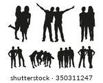 friends silhouettes | Shutterstock .eps vector #350311247