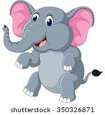 cute elephant cartoon  | Shutterstock .eps vector #350326871