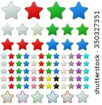 color metallic rounded star...