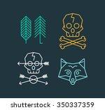 vector set of cool logo...   Shutterstock .eps vector #350337359