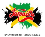 flag of jamaica. flag in grungy ...