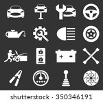 car service maintenance icon set | Shutterstock .eps vector #350346191