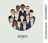 business team. group of office... | Shutterstock .eps vector #350360867