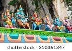 famous batu caves shrine near... | Shutterstock . vector #350361347