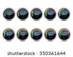 temperature gauge digital set | Shutterstock . vector #350361644