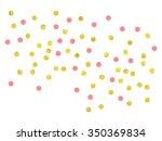 Gold And Pink Confetti Clip Art....