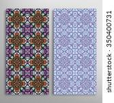 vertical seamless floral... | Shutterstock .eps vector #350400731