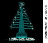 techno design of a christmas...   Shutterstock .eps vector #350400941