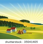 summer rural landscape.