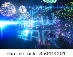 happy new year on tech... | Shutterstock . vector #350414201