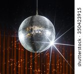 silver disco ball with stars in ... | Shutterstock . vector #350423915