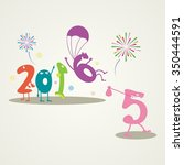 funny greeting card   happy new ... | Shutterstock .eps vector #350444591