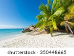 beautiful and a famous beach...   Shutterstock . vector #350448665