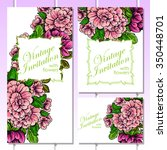 romantic invitation. wedding ... | Shutterstock . vector #350448701
