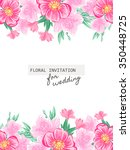 romantic invitation. wedding ... | Shutterstock .eps vector #350448725