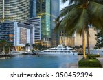 miami  downtown district at dusk | Shutterstock . vector #350452394