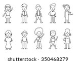 set of illustrations of people  ... | Shutterstock . vector #350468279