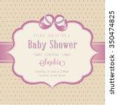 baby shower invitation | Shutterstock .eps vector #350474825