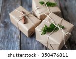 decoration of christmas gifts... | Shutterstock . vector #350476811