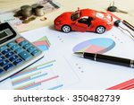 car expenses calculate with... | Shutterstock . vector #350482739