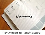 commit text concept write on... | Shutterstock . vector #350486099