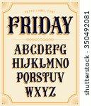 lovely vector set of lowercase... | Shutterstock .eps vector #350492081