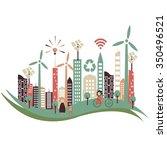 smart city vector concept   Shutterstock .eps vector #350496521