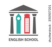 perfect logo for english... | Shutterstock .eps vector #350507201
