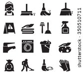 cleaning icons set | Shutterstock .eps vector #350510711