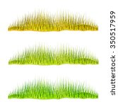 set of green grass  isolated on ... | Shutterstock . vector #350517959