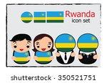 rwanda boy  girl  businessman ... | Shutterstock .eps vector #350521751