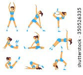 vector yoga illustration. yoga... | Shutterstock .eps vector #350526335