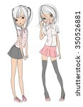 cute girls | Shutterstock .eps vector #350526881