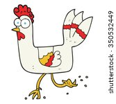freehand drawn cartoon chicken... | Shutterstock .eps vector #350532449