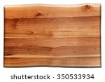 Wooden Board Isolated On White. ...